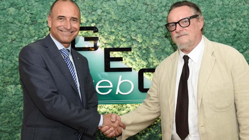 Marco Nardini (a sinistra), nuovo presidente Geoweb e Antonio Bottaro (a destra), nuovo ad