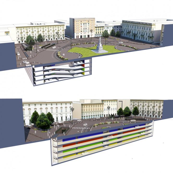 Torino-parcheggio-Piazza-Carlo-Emanuele-II-