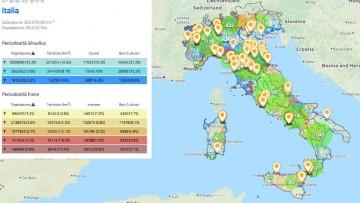 Rischio idrogeologico: nuova veste per le mappe di Italia Sicura