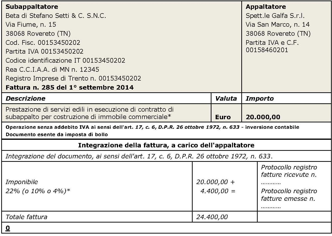 reverse charge come si deve comportare l 39 appaltatore