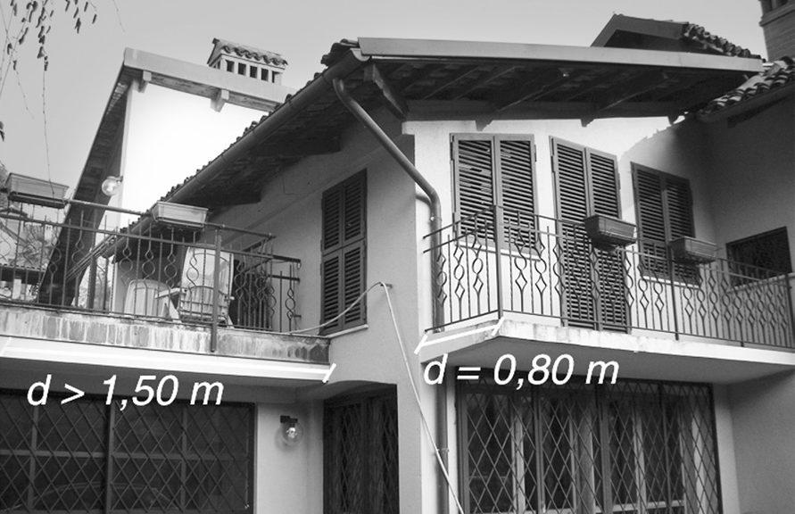 Disciplina delle distanze per terrazze e balconi