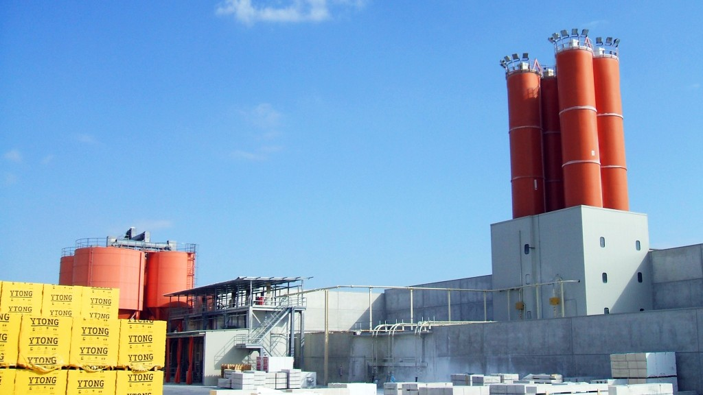Lo stabilimento produttivo Ytong a Pontenure (PC)