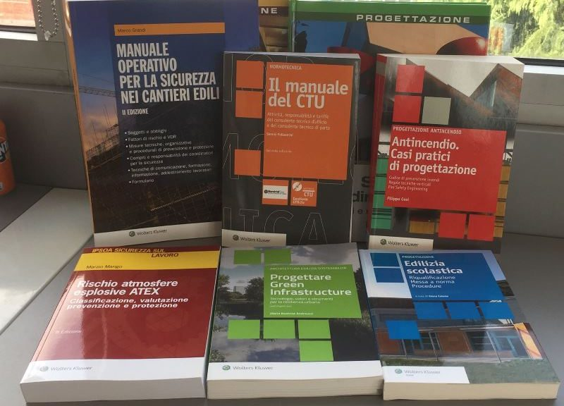 Alcuni volumi dedicati alla professione del geometra del catalogo Wolters Kluwer