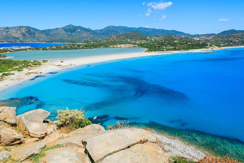 Una veduta di Villasimius in Sardegna