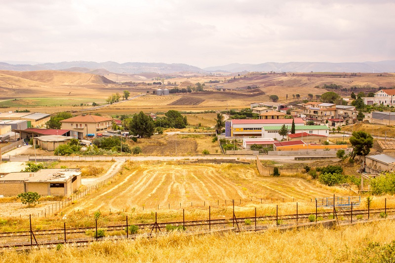 Panorama agricolo siciliano